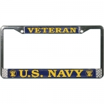 United States Navy Veteran License Plate Frame