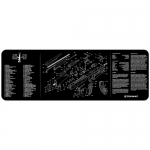 "TekMat AK-47 Gun Cleaning Mat 12"" x 36"" Long - Black"