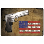 "TekMat 2nd Amendment Gun Cleaning Mat 11"" x 17"" Long - Black"