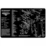 "TekMat Beretta 92 Gun Cleaning Mat 11"" x 17"" Long - Black"