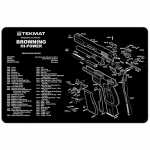 "TekMat Browning Hi-Power Gun Cleaning Mat 11"" x 17"" Long - Black"