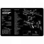 "TekMat Glock Gun Cleaning Mat 11"" x 17"" - Black"