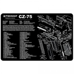"TekMat CZ-75 Gun Cleaning Mat 11"" x 17"" Long - Black"