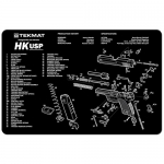 "TekMat Heckler and Koch USP Gun Cleaning Mat 11"" x 17"" - Black"