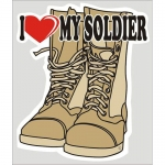 "U.S. Army Decal - 4"" x 4.75"" - I Heart My Soldier"