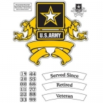 U.S. Army Decals - Star with Scroll - Personalized