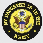 "U.S. Army Decal - 4"" - My Daughter... Army - Round"
