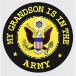 "U.S. Army Decal - 4"" Round - My Grandson is in the Army"