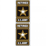 "U.S. Army Decals - 4.85 x 3.6"" (2 pack) Star"