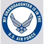 "U.S. Air Force Decal - 3.4"" - ""My Granddaughter.."""