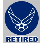 "U.S. Air Force Decal - 3.5"" x 4"" - ""Retired"" Wings"