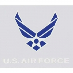 "U.S. Air Force Decal - 2"" X 3.25"" - Hap Wings"
