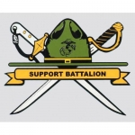 "U.S. Marines Decal - 4"" x 3"" - DI ""Support Batt"""