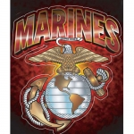 "U.S. Marines Decal - 5"" x 6.5"" - ""Marines"" w/ EGA"