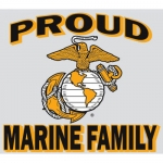 "U.S. Marines Decal - 4.3"" x 4.8"" - Proud Family"