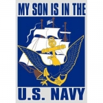 "U.S. Navy Decal - 3"" x 4.5"" - ""My Son Is.."""