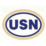 "U.S. Navy Decal - 6"" - Oval Sticker - ""USN"""