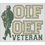"Veteran Decal - 4.5"" x 3.8"" - OIF/OEF Veteran"