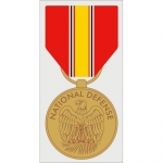 "Assorted Decal - 5"" x 3"" - U.S Defense Medal"