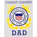 "U.S. Coast Guard Decal - 3.2"" x 4.5"" - ""USCG Dad"""