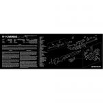 "TekMat M1 Carbine Gun Cleaning Mat 12"" x 36"" Long - Black"