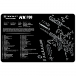 "TekMat H&K P30 Handgun Cleaning Mat 11"" x 17"" - Black"