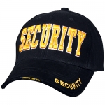 Assorted Ballcap - Security - Gold 3D Letters on Black Cap