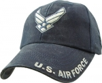 USAF Ballcap - Air Force with Wings - Grey