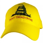 Assorted Ballcap - Don't Tread On Me - Full Color Embroidery on Yellow Cap