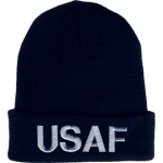 USAF Watchcap - Blue with Embroidered Letters