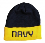 USN Watch Cap - Navy Blue with Embroidered