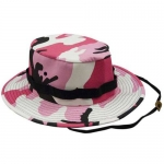 Boonie Hat - Pink Camo - Polyester/Cotton