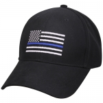 Assorted Ballcap - Police Thin Blue Line Flag Low Profile Cap