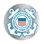 "U.S. Coast Guard Decal - 3"" Prism - ""USCG"" Seal"