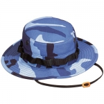 Boonie Hat - Sky Blue Camo - Polyester/Cotton