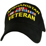 US Army Ballcap Veteran of Afghanistan - Black