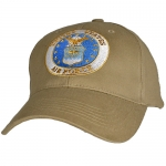 USAF Ballcap Air Force with Emblem - Khaki