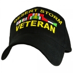 Veteran Ballcap - Desert Storm Veteran with Ribbons