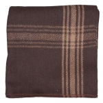 Camel-Striped Brown Wool Blanket