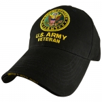 US Army Ballcap - Veteran with Army Seal