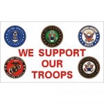 We Support Our Troops Flag - Deluxe 3' x 5'