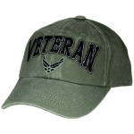 USAF Ballcap Veteran w/ Air Force Logo 3D - Olive Drab (OD)