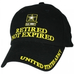 US Army Ballcap - Retired, Not Expired with Army Star - Gold on Black