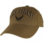 USAF Ballcap -Air Force with Wings Logo Coyote Brown
