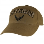 USAF Ballcap Veteran w/ Wings - Coyote Brown