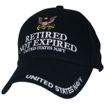 US Navy Ballcap - Retired not Expired - Navy Blue