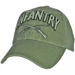 US Army Ballcap Infantry with Crossed Rifles - Olive Drab OD