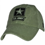US Army Ballcap - Army Star Logo on OD Olive Drab Cap