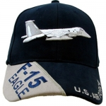 US Air Force Ballcap - F-15 EAGLE - Dark Navy Blue