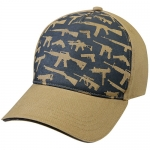 Assorted Ballcap - Deluxe Guns Low Profile Cap - Khaki